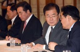 정의용 안보실장 文대통령, 2차 한국전쟁 이르지 않도록 막을 것