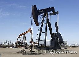 [국제유가] 美 원유 시추장비 증가에 하락...WTI 1.58%↓