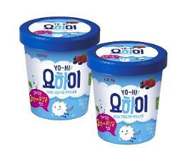 롯데제과, 유산균 살아있는 '요하이 아이스크림' 출시
