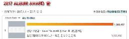 방탄소년단 한터차트 판매량 100만장 돌파, 집계 이후 단일 앨범 역대 최다