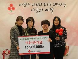 프로골퍼 박성현 팬클럽, 3년 연속 사랑의열매 성금기부