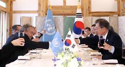 문 대통령, 유엔 사무총장과 회담…평창 이후 찾아올 봄 고대
