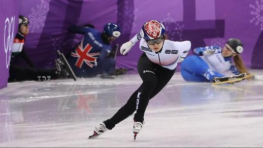[평창동계올림픽] 적수없는 최민정, 쇼트트랙 500m 8강行…42초870으로 올림픽 신기록 달성