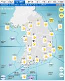 '날씨'낮 최고16도 포근..전국 곳곳 최고7㎝'눈ㆍ비'..미세먼지나쁨'