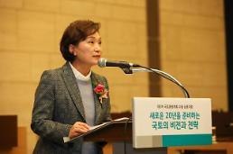 김현미 국토부 장관 인구 감소·고령화 시대, 압축적 재생 나서야