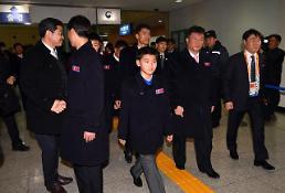 옅은 미소만 남기고…평창 패럴림픽 북 선수·대표단 北으로 귀환