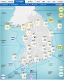 '날씨'오전까지 전국 최고20㎜황사'비'..강풍,천둥ㆍ번개..낮 최고24도