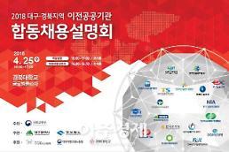 대구·경북 이전공공기관 합동 채용설명회...18개 공공기관 참여