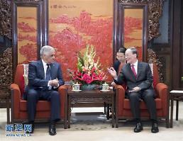 [중국포토] 시진핑 오른팔 왕치산, 도미니카 외교장관과 회담