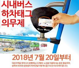 대전 시내버스, 하차태그 의무제 시행