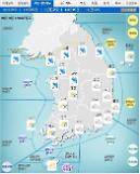 '날씨'중부 중심 시간당 30㎜ '비'... 돌풍, 천둥·번개... 낮 최고 31도