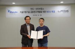 만도, 네이버랩스와 자율주행기술 공동 연구 협약