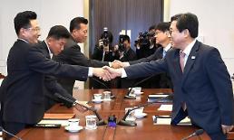 [포토] 악수로 시작한 남북 체육회담 전체회의