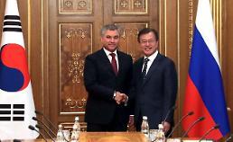 문 대통령, 러시아 하원의장 면담…유라시아 공동번영·한러협력 발전