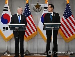 한미 국방장관 북 비핵화 맞춰 연합훈련 시기 협의… 주한미군 유지
