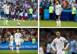 [월드컵] 메시‧호날두, 손잡고 집으로…우루과이-프랑스 '8강 격돌'
