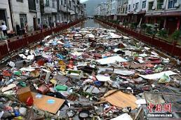 [중국포토] 태풍 마리아 강타로 쓰레기장으로 변한 푸젠성