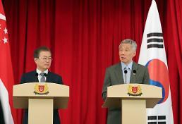 문 대통령 한·싱가포르 관계격상 협의…정부·국민 교류 확대