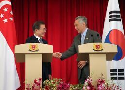 문 대통령 한·싱가포르 관계격상 협의…이중과세방지협정 개정 조속마무리
