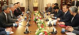 문 대통령, 리센룽 총리와 회담…신남방정책 기조하 관계 격상