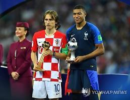 [월드컵] '우승 놓쳤지만 골든볼 잡은' 모드리치, 영플레이어는 음바페