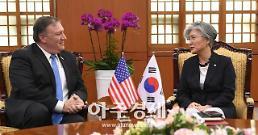 강경화-폼페이오, 싱가포르서 만났다…북핵문제 등 논의