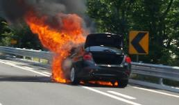 전남 목포서 BMW 520d 주행 중 화재