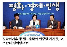 [오늘의 로앤피] 지방선거후 두 달…추락한 민주당 지지율, 고스란히 정의당으로(전문)