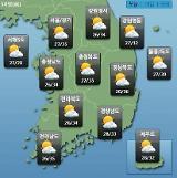 [오늘의 날씨 예보] 전국 곳곳 소나기, 최고 30mm…낮 최고 36도 폭염은 계속