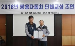 쌍용차, 2018년 임단협 조인식 개최