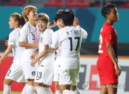 [2018아시안게임] 한국 여자축구 8강행 한국 자존심 살렸네 남자축구 본 받아라