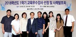울산대, 강의평가 우수강사 10명 선정...시상, 사례 발표회 열어