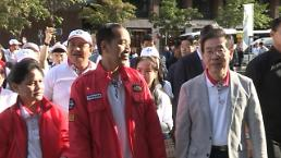 박원순 시장-조코위 인니 대통령 청계천 산책 밝은 미래 그려 나가길
