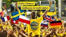 한국이 없으니 우리가 우승한다 독일 광고판의 월드컵 자폭개그