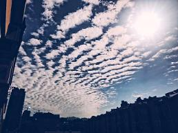 [중국포토] 칭다오 하늘 수놓은 양떼구름 장관