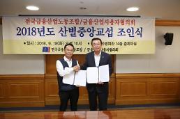 금융노사 2018년도 산별중앙교섭 임단협 조인식 개최