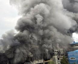화성 향남 싸이노스 반도체 공장서 화재…네티즌 하늘이 연기로 뒤덮였다