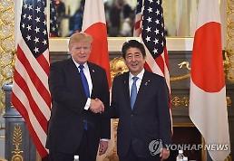 아베, 트럼프와 만찬 후 비핵화 위해 긴밀히 연대…日입장 강력히 전달