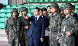[포토] 서부전선 최전방 도라대대 찾은 정경두 국방부 장관