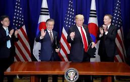 한미, FTA 개정협정 서명…문 대통령·트럼프, 공동성명 발표