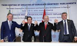 문희상 의장, '한반도 평화 세일즈 의회 정상외교'…유라시아 의회 지지 확보(종합)