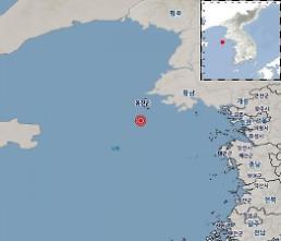 인천 백령도 앞 바다에서 규모2.4지진 발생