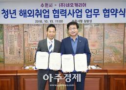 수원시-㈜네오캐리어, 청년 해외취업 협력사업 업무 협약 체결