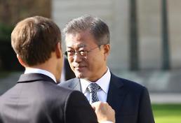 문 대통령 한반도비핵화·평화정착 과정에 프랑스 역할 기대