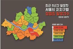 [2018 국감] 권미혁 서울시 25개 자치구중 성범죄 발생 1위는 강남