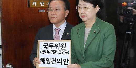 """한국, '조명균 해임건의안' 제출…민주 """"끝없는 몽니"""" 일축"""