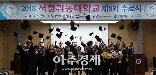 서정귀농대학교 9기 수료식