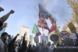 미국에 죽음을..제재 직면한 이란, 대규모 반미 시위