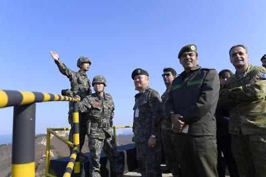 주한 외국무관단, 남북 평화정착 확인차 직접 백령도행