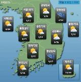 [오늘의 날씨 예보] 오늘도 큰 일교차 주의 동해안은 내일까지 비…미세먼지 보통~나쁨